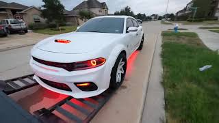 MY WIDEBODY DODGE CHARGER WAS WAY TO LOW TO PUT ON THE TRAILER I WAS SUPER NERVOUS