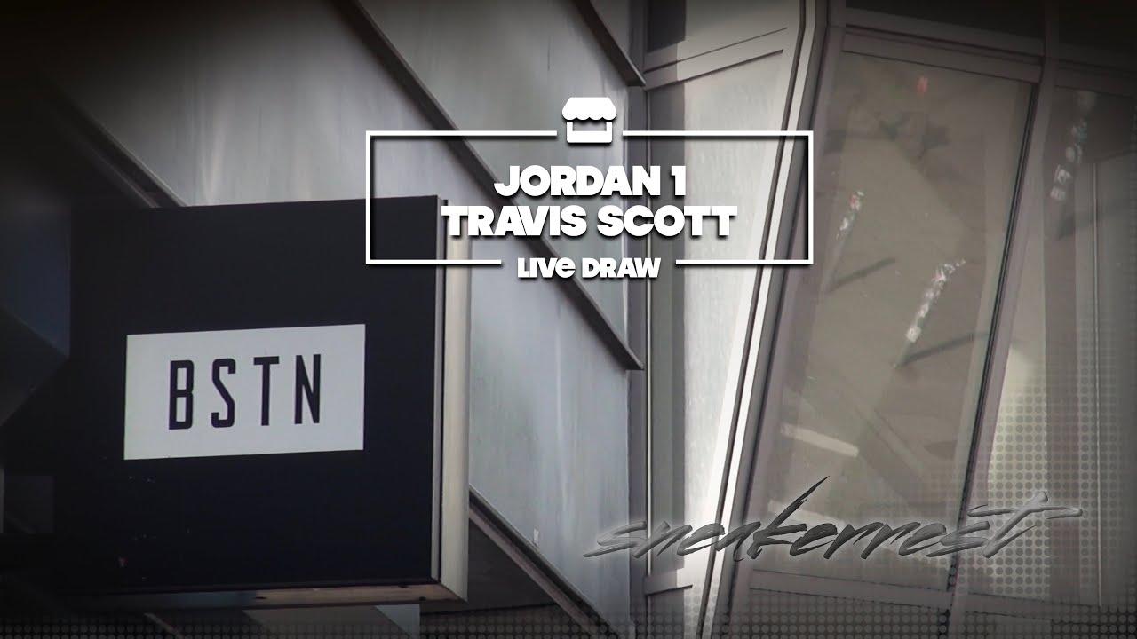 a few days away discount special for shoe Nike Air Jordan 1 Travis Scott live Draw