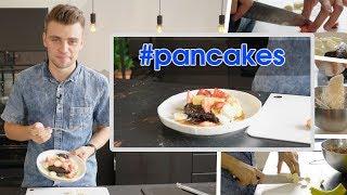 Łatwy przepis na pyszne, czekoladowo-bananowe pancakes! | Damian Kordas