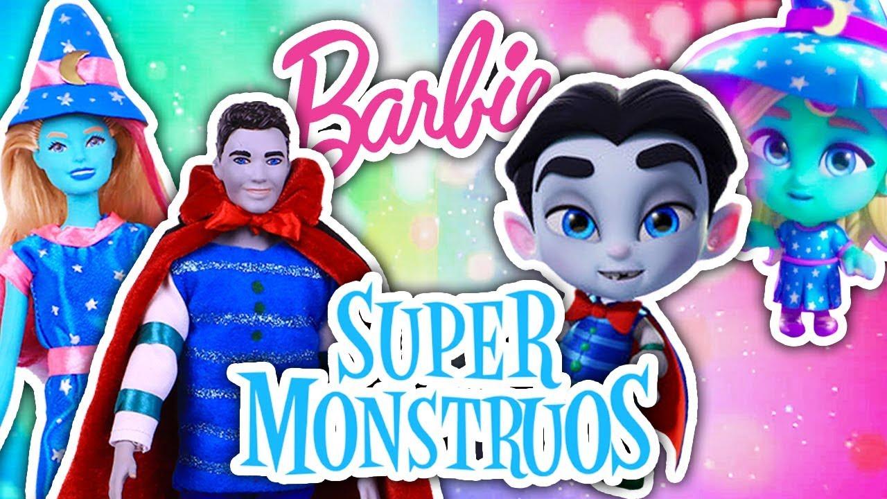 Supermonstruos Drac Y Katya Serie Netflix Barbie Y Ken Transformaciones Fantásticas