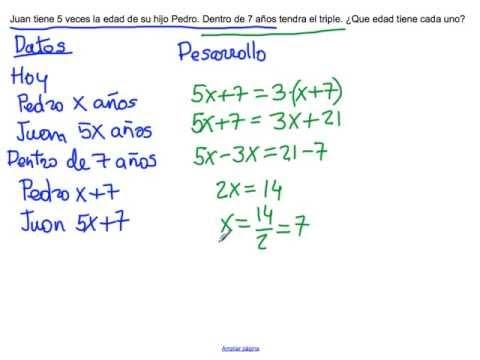 Problemas de aplicacion de funciones lineales resueltos