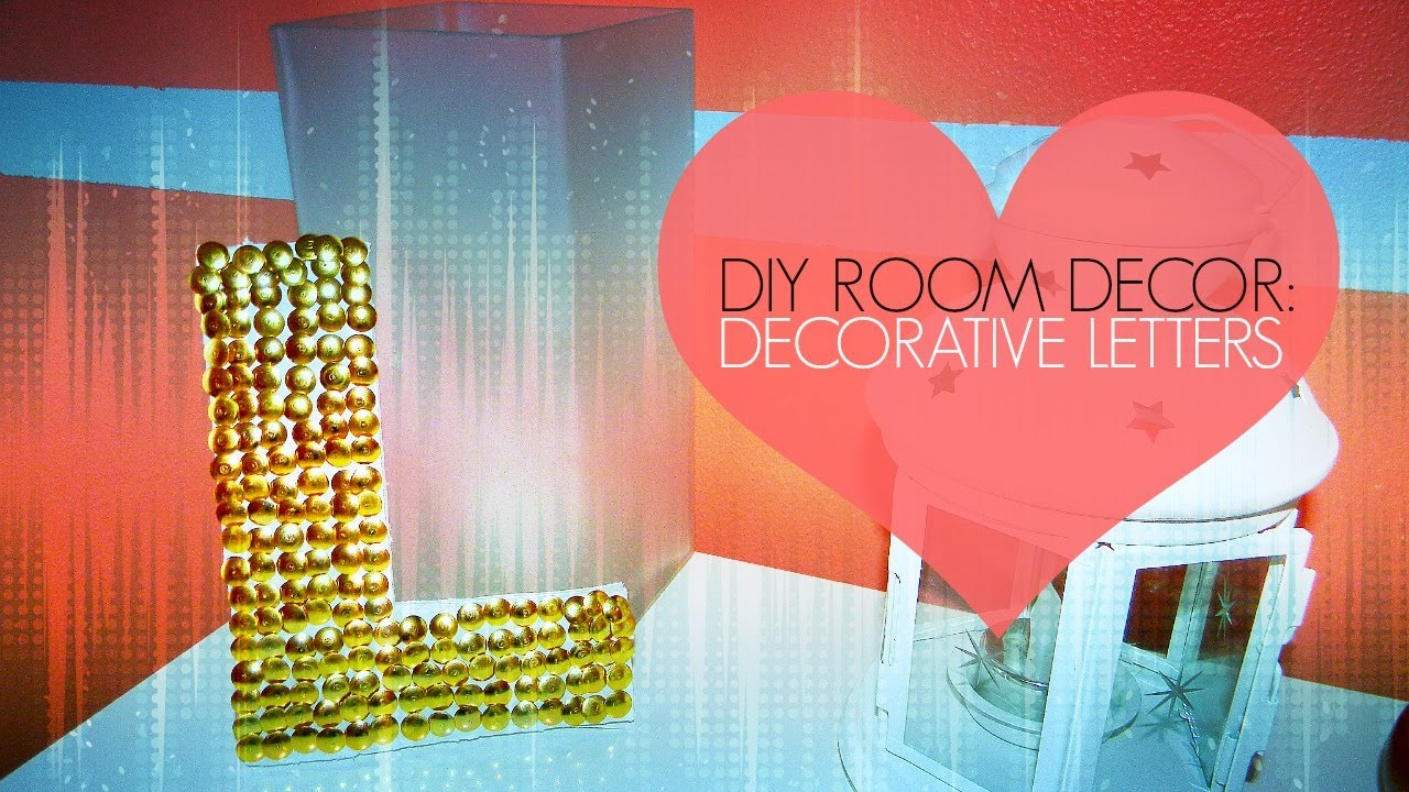 Diy Room Decor Decorative Letter Wall Art Thumb Tack Art Youtube