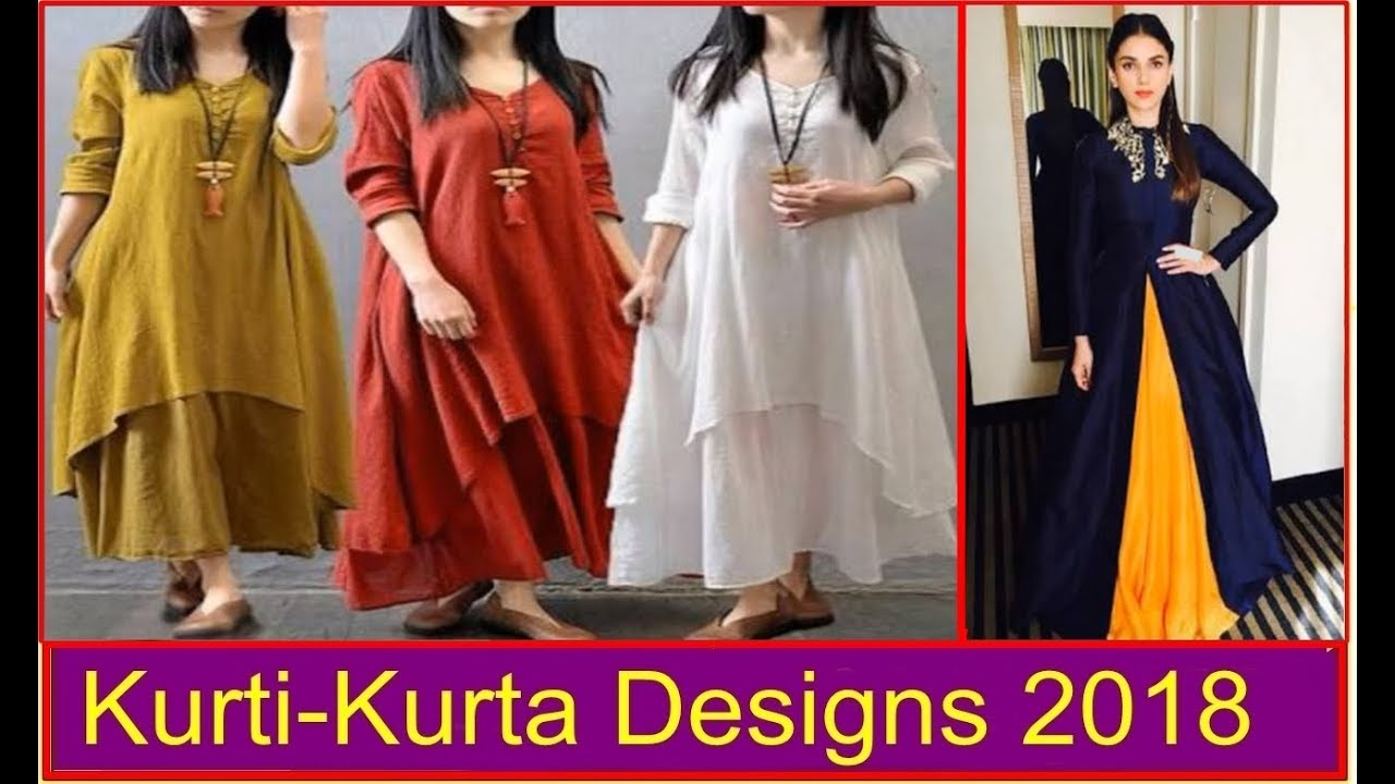 Long Kurti With Skirt Style Trending Kurta Tops 2018 Our Glamour