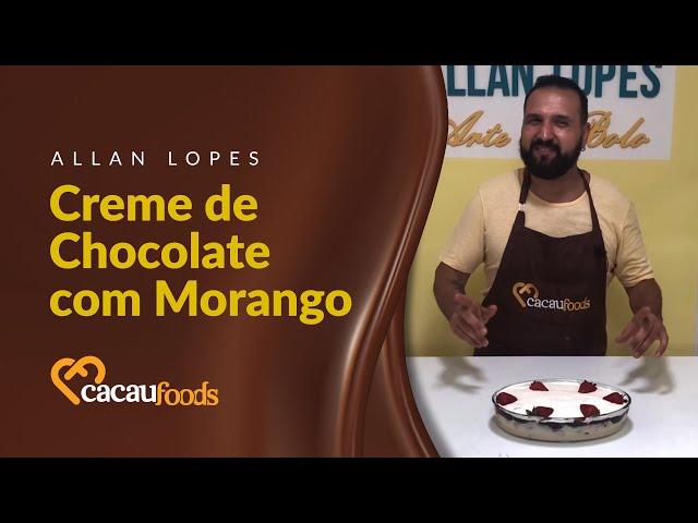 Creme de Chocolate com Morango   Cacau Foods
