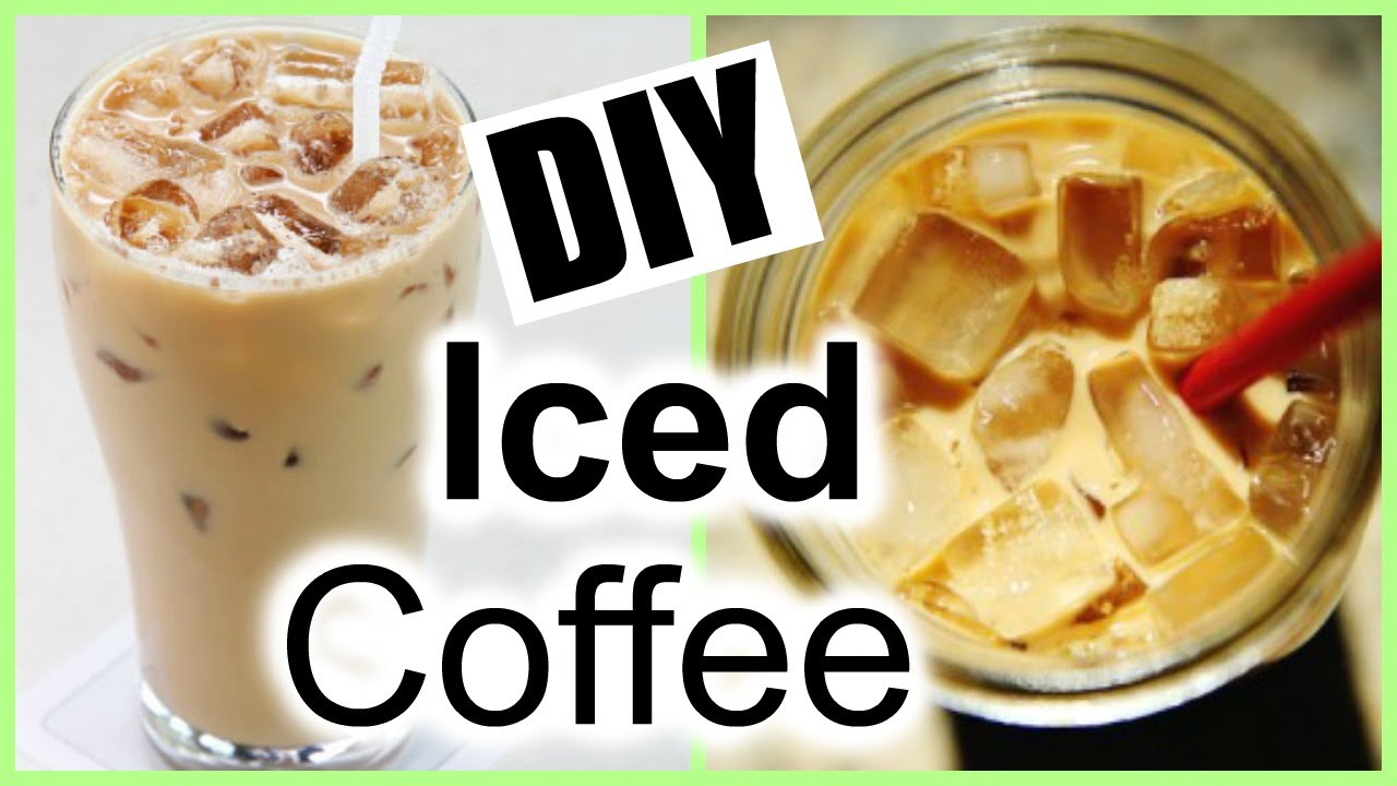 How To Make Iced Coffee At Home The Easiest Iced Coffee Recipe Ever Youtube