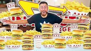 I Only Ate IN-N-OUT For 24 Hours! (IMPOSSIBLE FOOD CHALLENGE)
