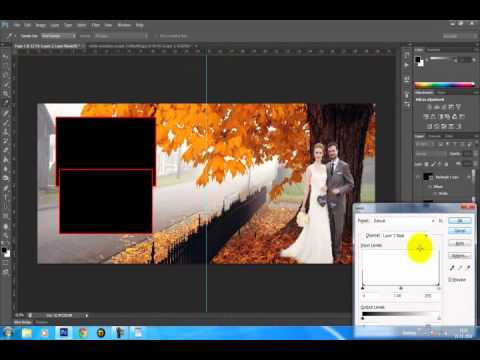how to create wedding template in photoshop - YouTube