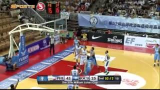 Philippines vs. Chinese Taipei B - Q2   JONES CUP 2015