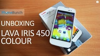 Lava Iris 450 Colour Unboxing and Hands on Overview