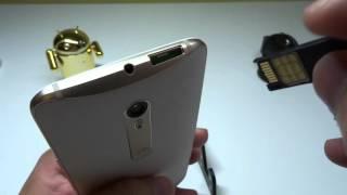 Мото Х стиль (чистий)-установлення SIM-карти і micro SD карти