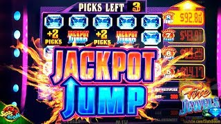 JACKPOT JUMP on FIRE JEWELS Play & Bonuses!!! 1c Slot in San Manuel Casino by Everi Gaming