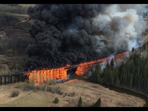 Trestle Fire Mayerthorpe Alberta original footage