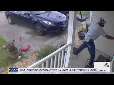 Intruder shot, killed after kicking in door, charging occupant with a knife