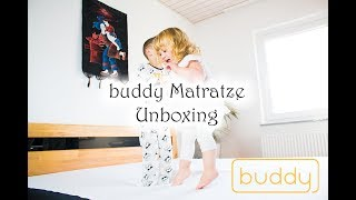 buddy Matratze Unboxing - eine coole innovative Matratze mit zip-Bettlaken