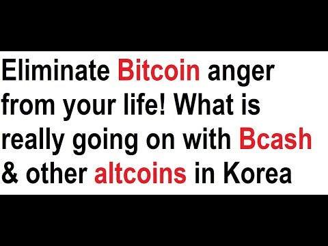 Eliminate Bitcoin anger from your life! What is really going on with Bcash & other altcoins in Korea