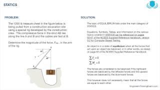 FE Exam Practice Problem - Statics