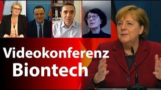 Videokonferenz mit dem Impfstoffhersteller BioNTech