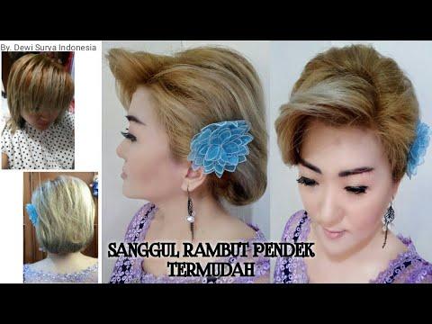 Sanggul Rambut Pendek Sanggul Rambut Sendiri Termudah Youtube