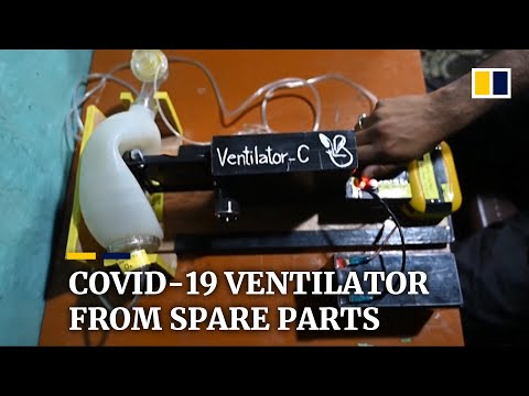 Inventor makes ventilator from spare parts to help fight Covid-19 in Kashmir
