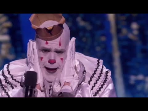 Puddles Pity Party: The Sad Clown Can't Handle Simon's Criticism | America's Got Talent 2017