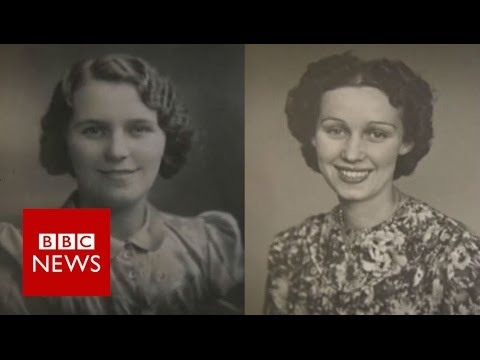 100-year-old twins celebrate with roast - BBC News