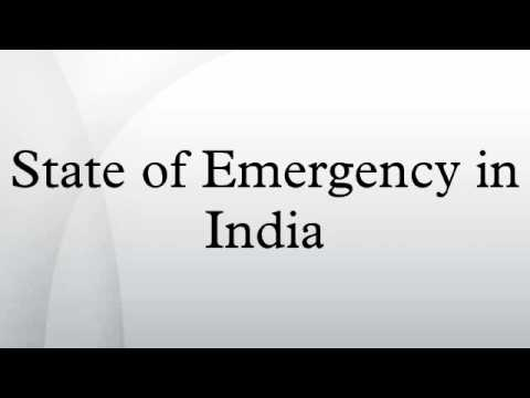 State of Emergency in India