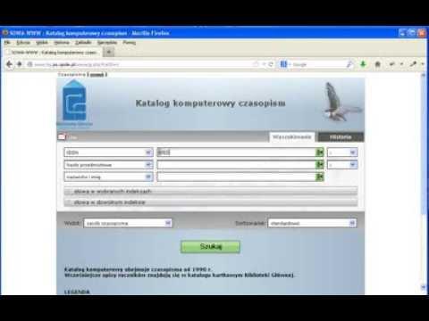 Wyszukiwanie pozycji w katalogu komputerowym czasopism: ISSN