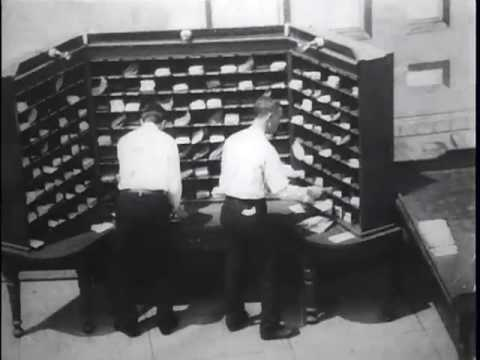 Clerks Casing Mail For Bags, U.S. Post Office