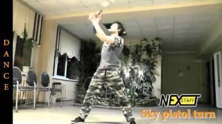 Фаер-шоу. Уроки Шест (Spin Staff) стиль DANCE - Sky Pistol Turn
