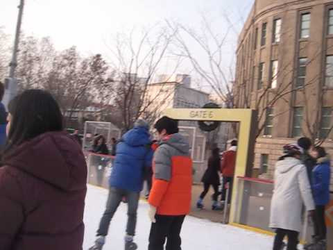 Ice Skating in Seoul