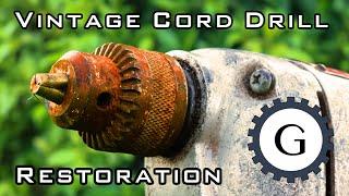 Vintage Electric Drill Restoration [HITACHI Drill]
