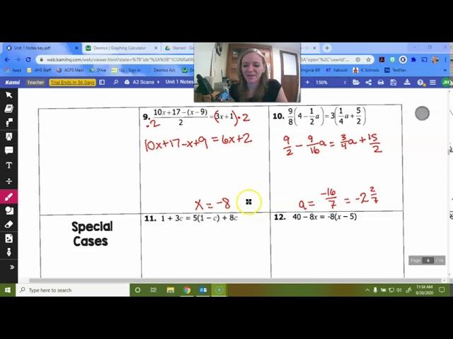 Algebra 2- Solving Equations