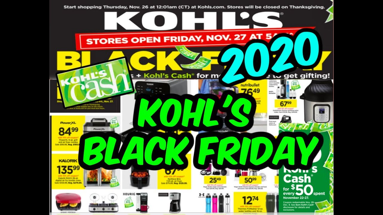 Kohl's Black Friday 2020: Sale starts today; Black Friday ad is out