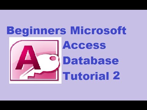 Beginners MS Access Database Tutorial 1 - Introduction and Creating