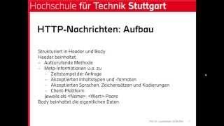 Verteilte Systeme 6 - Web Services 1 (Basis)
