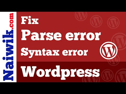 Parse error syntax error unexpected functions.php wordpress