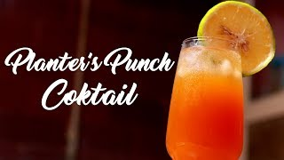 Planter's Punch Cocktail an Easy Making Homemade Refreshing Drink