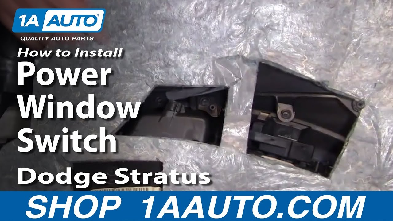 How To Install Replace Power Window Switch Dodge Stratus 01 06 2002 Wiring Diagram 1aautocom