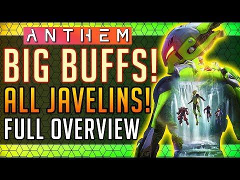 Anthem | Massive Javelin Buffs! All 4 Javelins Overview! #Anthem