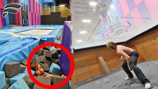 HIDE AND SEEK IN SUPER TRAMPOLINE PARK