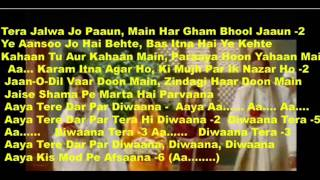 Aaya Tere Dar Par Diwaana ( Verr Zara ) Free karaoke  v c  with lyrics by Hawwa -