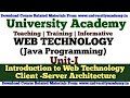 L2:Web Technology Java Programming, What is Web Technology,Client Server Architecture tutorial Hindi