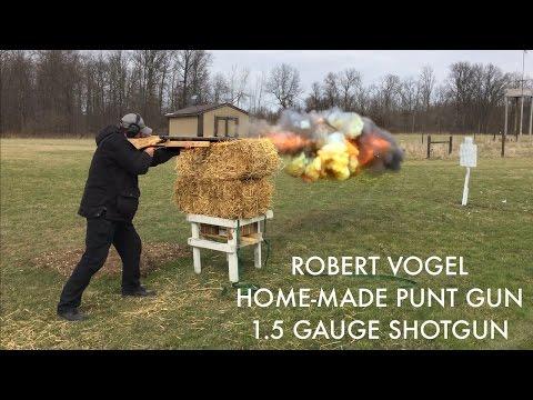 Robert Vogel Home-Made Punt Gun / 1.5 Gauge Shotgun
