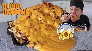 Остро сырная картошка ФРИ 10 000 калорий Matt Stonie на русском 2