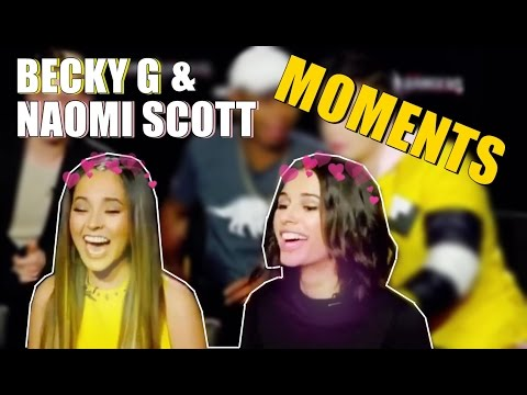 Becky G and Naomi Scott MOMENTS Beaomi 💛💝
