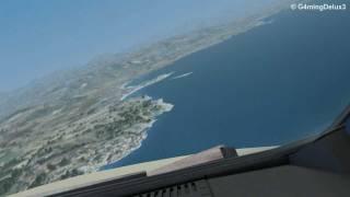 AIRBUS A320 COCKPIT LANDING AT PALMA DE MALLORCA!