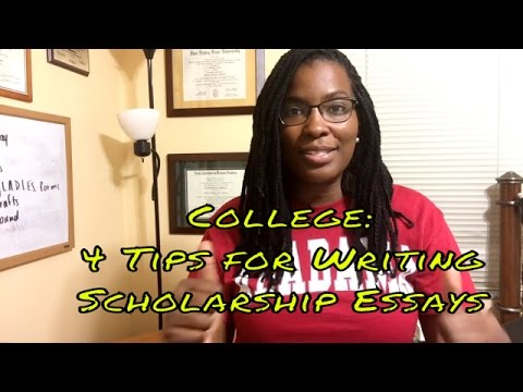 College: 4 Tips for Writing an Awesome Scholarship Essay!