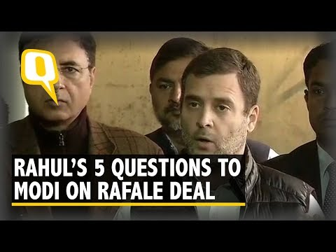 Rahul Gandhi Asks 5 Questions To PM Modi on Rafale Deal | The Quint
