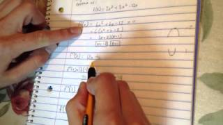 how to use the second derivative test to find relative extrema of f x 2x 3 3x 2 12x