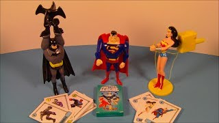 2007 DC JUSTICE LEAGUE UNLIMITED SET OF 4 HARDEE